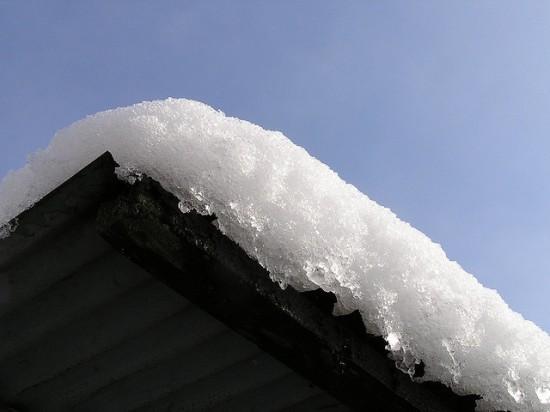 Снег крыши
