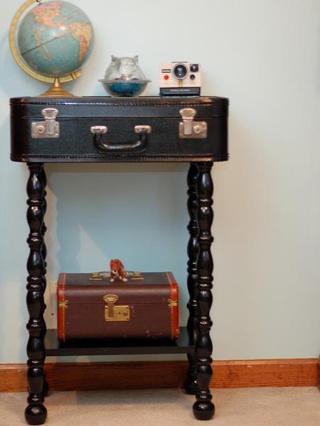 Чемодан-тумбочка, мебель своими руками