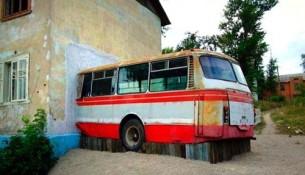 Веранда из автобуса
