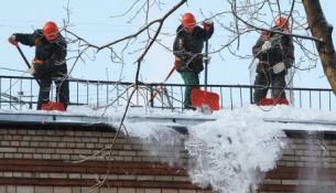 Очистка крыш жилого фонда