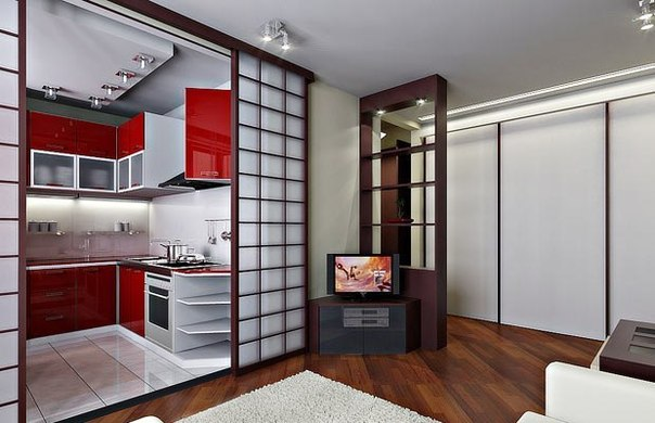 Раздвижные двери также помогают экономить пространство