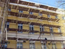 В центральной части Ульяновска ведётся ремонт фасадов и многоквартирных домов