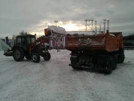 Ульяновские предприятия совместно с МБУ «Дорремстрой» ликвидируют последствия снегопада