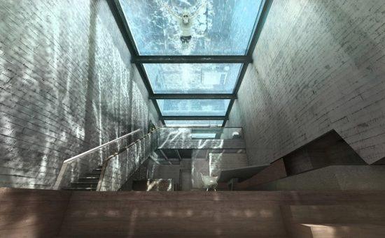 «Casa Brutale» - дом с бассейном вместо потолка.