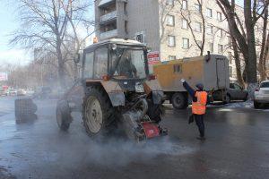 Дороги Ульяновска ремонтируются без выходных