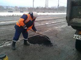Сегодня днём ямочный ремонт дорог ведётся во всех районах Ульяновска
